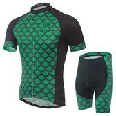 自行車衣-(短袖套裝)-戶外防曬抗紫外線速乾男單車服套裝73er57【時尚巴黎】