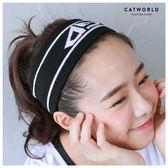 Catworld GD英文字運動針織髮帶【18003069】‧F*特價
