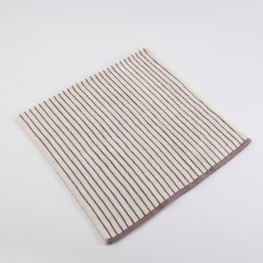 有機棉簡約條紋浴巾-寧靜棕