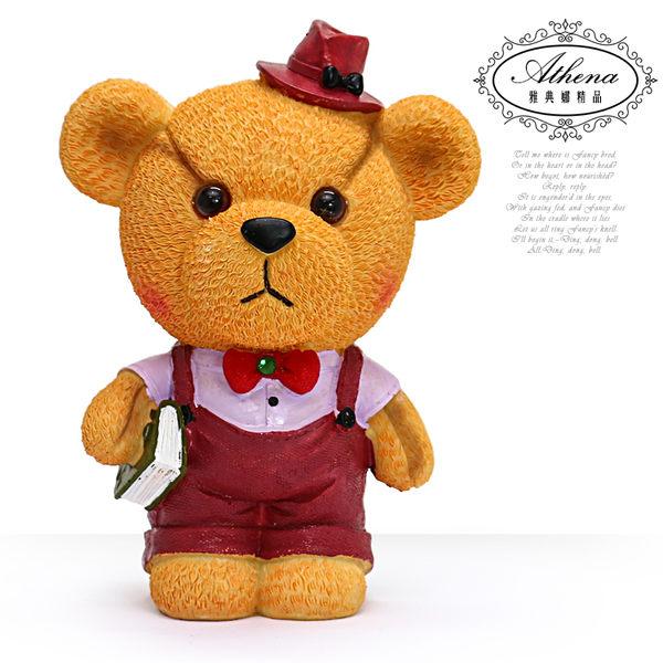 【雅典娜家飾】紅色淑女小熊存錢筒擺飾-GZ18