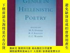 二手書博民逛書店Genre罕見In Hellenistic PoetryY255