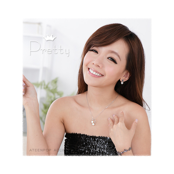 珍珠項鍊 ATeenPOP 正白K飾 優美戀曲 白珍珠 附鋼鍊 母親節禮物