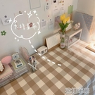 桌布韓風溫柔棕色大格子桌布野餐布民宿咖啡店餐廳軟裝飾 花樣年華
