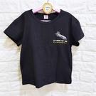 棒棒糖童裝(S30965)夏男大童黑色個性飛機款短袖上衣 19-23