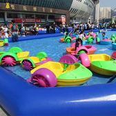 充氣水池家用兒童游泳池水上樂園設備釣魚手搖船大型水上充氣玩具 英雄聯盟igo