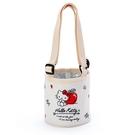 【震撼精品百貨】Hello Kitty_凱蒂貓~三麗鷗 ~環保飲料杯帶-米*54336
