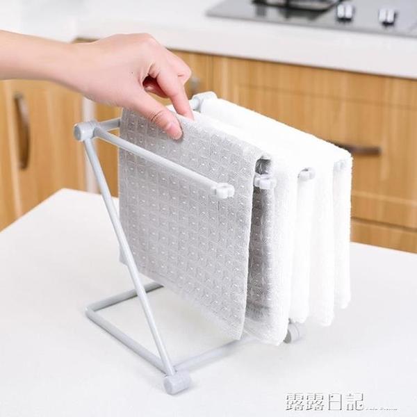 廚房瀝水抹布架洗碗布擦手巾掛架水槽海綿台面收納水池置物架 露露日記