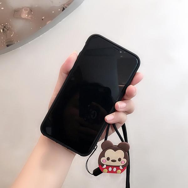 斜背卡通米奇款 三星 A9 A7 2018 A6 plus 手機殼 迪士尼人物 氣囊伸縮 影片支架 A6+ 掛脖繩