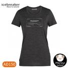 【Icebreaker 女 Tech Lite 大圓領短袖上衣 AD150 皇后鎮《灰》】IB105499/機能服/排汗衫
