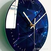 掛鐘鐘錶掛鐘客廳家用時鐘超靜音創意輕奢石英鐘藝術玻璃黑色大氣臥室 檸檬衣舎