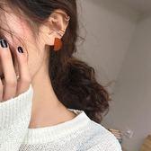 (尾牙交換禮物)創意 甜酸925銀針幾何耳釘女氣質韓國個性百搭簡約適合圓臉的耳環耳飾