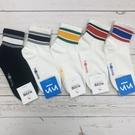 【花想容】粗條紋 簡約設計感 運動風 健身襪 韓國襪子 長筒襪 條紋襪