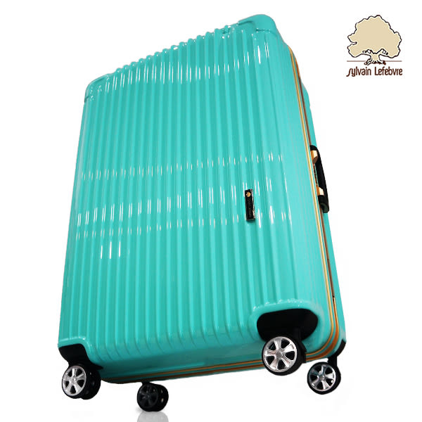 【Sylvain Lefebvre希梵】★New★繽紛馬卡龍系列鋁框旅行箱 行李箱-28吋(綠)
