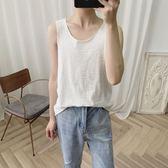阿茶與阿古一直在搭配的背心男夏季簡約兩色打底無袖t恤 台北日光
