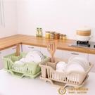 碗筷瀝水家用廚房放碗碟置物架裝餐具籃箱晾洗水槽濾水【小獅子】