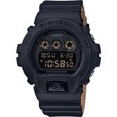 CASIO 卡西歐 G-SHOCK 霧面坦克手錶-黑x咖啡 DW-6900LU-1DR / DW-6900LU-1