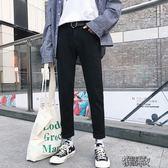 黑色牛仔褲男修身學生秋冬加厚加絨港風褲子休閒長褲 街頭布衣