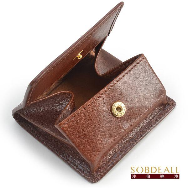 SOBDEALL 沙伯迪澳 男女通用真皮方型釦式零錢包 20501009802