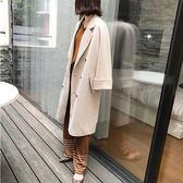 毛呢外套女中長款韓版冬季加厚修身精品龍鳳呢子大衣『櫻花小屋』