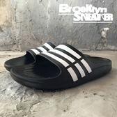 ADIDAS DURAMO SLIDE 黑白條 防水 海灘 拖鞋 男女 (布魯克林) 2018/7月 G15890