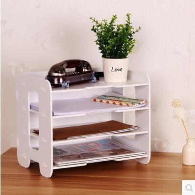 桌面置物架層架桌上小書架簡易辦公桌收納盒整理架木特價宜家組合01