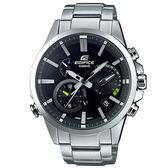EDIFICE 頂級鑄模技術藍牙傳輸賽車錶-黑