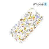 【日本 PGA-iJacket】正版迪士尼 iPhone 7 海外限定PC透明塗鴉系列 手機殼-維尼436