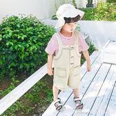 童裝新款兒童短褲五分褲小童寶寶夏裝牛仔背帶褲男童褲子韓版艾美時尚衣櫥