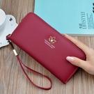 長夾/手拿包 錢包女長款新款簡約拉鏈手拿錢包多功能大容量多卡位手機包  店慶降價