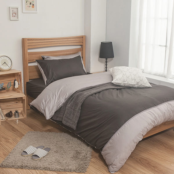 床包 / 單人【簡單生活系列-多色可選】含一件枕套  100%精梳棉  戀家小舖台灣製AAA101