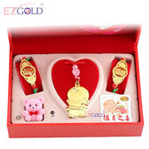 EZGOLD♥音樂小神童♥彌月金飾音樂禮盒 (0.70錢)