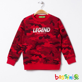 【歲末出清2件999】圖案圓領厚棉T恤08紅色-bossini男童