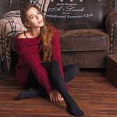 絲襪700D-全棉條紋磨毛加絨保暖彈力內搭褲5色73nu17【時尚巴黎】
