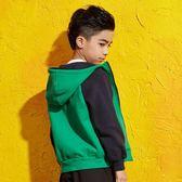 童裝男童夾克外套春裝兒童抓絨上衣中大童連帽開衫-新主流