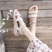 涼鞋女新品夏季舒適軟底ins百搭學生平底簡約羅馬鞋潮 - 風尚3C