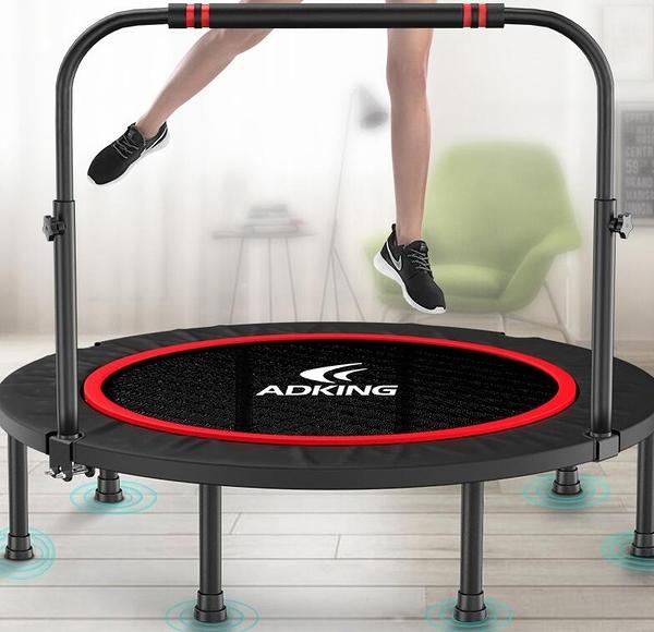 彈跳床 帶單杠扶手最新款 健身房家用兒童室內彈跳床戶外成人運動器彈跳床