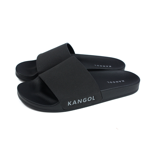KANGOL 拖鞋 戶外 男鞋 黑色 6025220320 no094