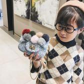 【新年鉅惠】韓版時尚寶寶斜跨小包包2019新款冬季可愛毛球兒童單肩包女側背包