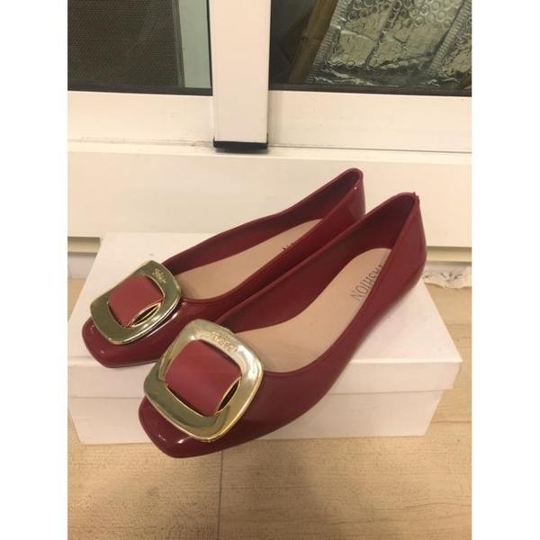 『小瑕疵』韓版平底鞋雨鞋淺口工作鞋(35-40號/777-1096)