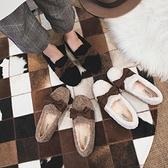 豆豆鞋 毛毛鞋女冬外穿羊羔毛豆豆鞋加絨厚底棉鞋大碼女鞋41一43-Milano米蘭