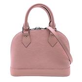 【台中米蘭站】全新品 Louis Vuitton Alma BB 牛皮手提斜背兩用包(M41327-芭蕾粉)