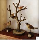 美式鄉村樹杈小鳥擺件首飾架家居裝飾品創意工藝品禮品個性