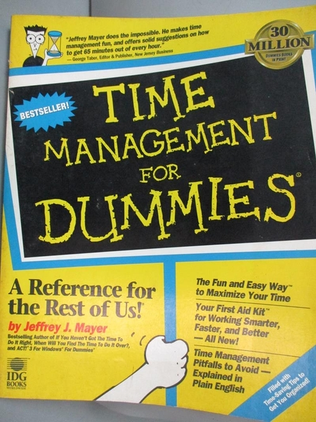 【書寶二手書T7/語言學習_HMZ】TIME MANAGEMENT FOR DUMMIES
