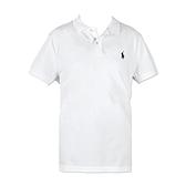 【南紡購物中心】Ralph Lauren 經典刺繡小馬短袖POLO衫-白