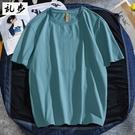 港風純色t恤男潮牌短袖寬鬆潮流新品純棉半袖百搭男女情侶裝上衣【快速出貨】