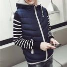 潮流時尚日韓街頭風格保暖連帽背心外套