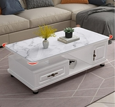 茶几 圓角茶几簡約現代家用客廳小戶型歐式電視櫃組合茶桌玻璃茶几桌【快速出貨】