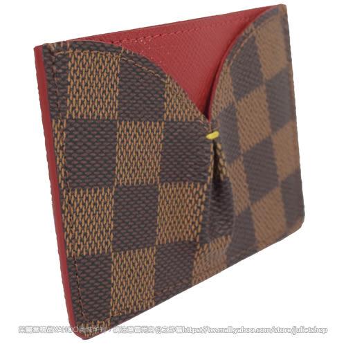 Louis Vuitton LV N61219 CAISSA 棋盤格紋信用卡名片夾.紅 全新 預購