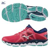 MIZUNO WAVE SKY 2 女鞋 慢跑 路跑 耐磨 緩震 珊瑚紅 粉【運動世界】 J1GD180239