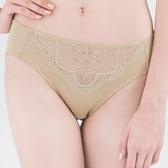 思薇爾-星願秘密系列M-XXL蕾絲中腰三角內褲(自然綠)